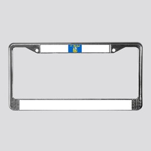 The Navy Blue Angeles License Plate Frame
