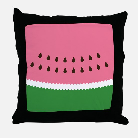 Abstract Watermelon Throw Pillow
