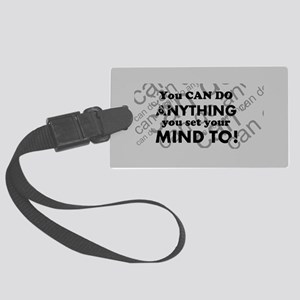 CAN DO Inspirational Saying Large Luggage Tag