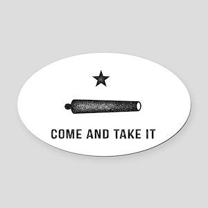 Gonzales Flag Oval Car Magnet