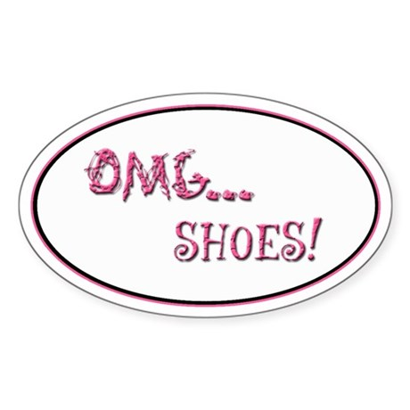 OMG Shoes 2.0 Oval Sticker