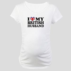 I Love My British Husband Maternity T-Shirt