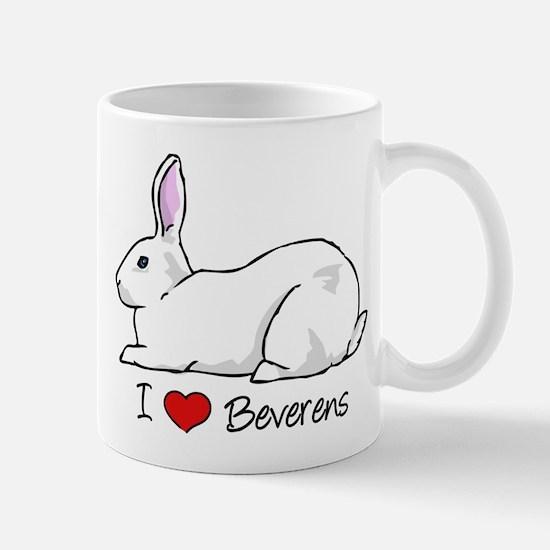 I Heart Beveren Rabbits Mugs