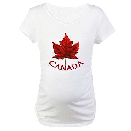 Canada Maple Leaf Souvenir Maternity T-Shirt