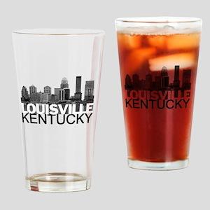Louisville Kentucky Skyline Drinking Glass