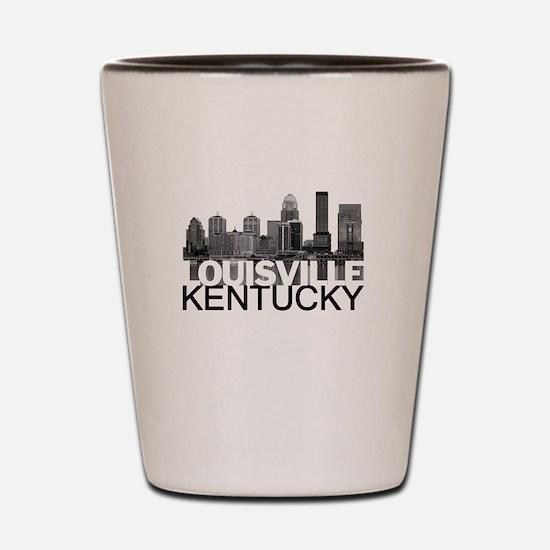 Louisville Kentucky Skyline Shot Glass
