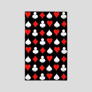 Poker Symbols 3'x5' Area Rug