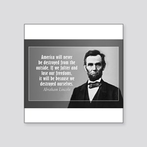 Lincoln Quote Aneruca Sticker