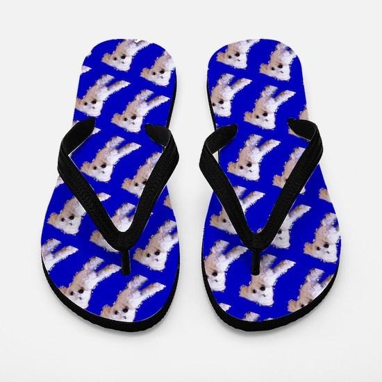 Munchin Maltese Blue Designer 23 Flip Flops