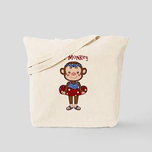 Beach Monkey GIrl Tote Bag