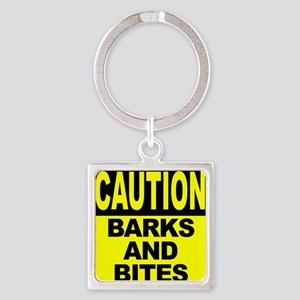 Barks and Bites Square Keychain