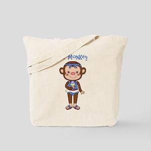 Lil Monkey Girl w Ice Cream Cone Tote Bag