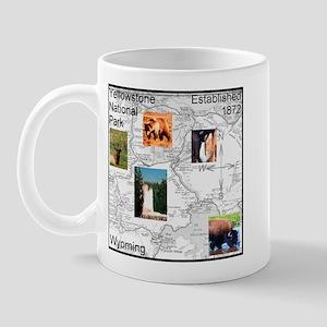 Yellowstone NP Illustrated Ma Mug
