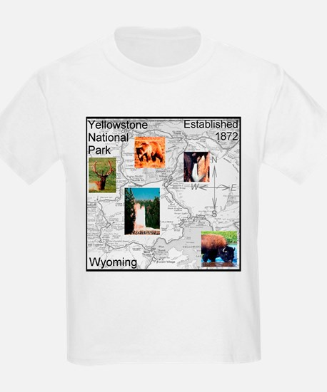 Yellowstone NP Illustrated Ma T-Shirt