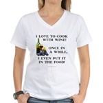 Cooking with Wine Women's V-Neck T-Shirt