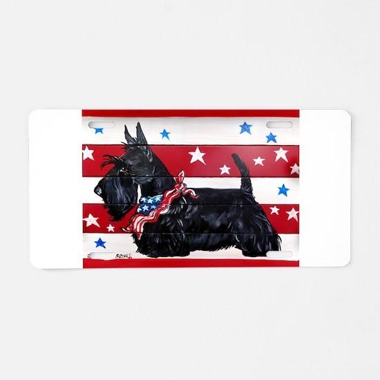 American Scottie Aluminum License Plate