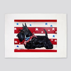 American Scottie 5'x7'Area Rug