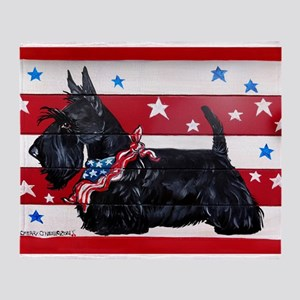 American Scottie Throw Blanket