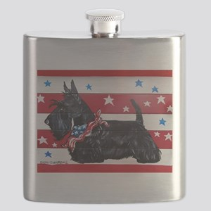 American Scottie Flask