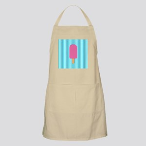 Pink Popsicle on Teal Stripes Apron