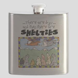 SheltiesCartoon Flask