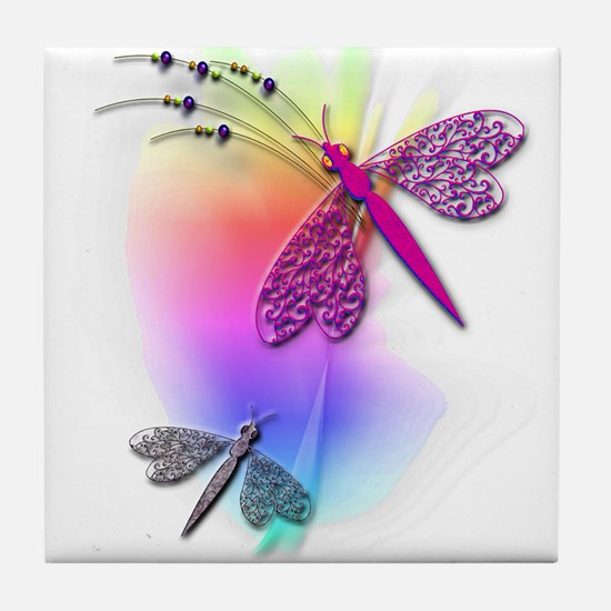 Dragonfly Delight Tile Coaster