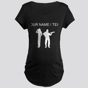 Custom Singer And Guitar Player Maternity T-Shirt