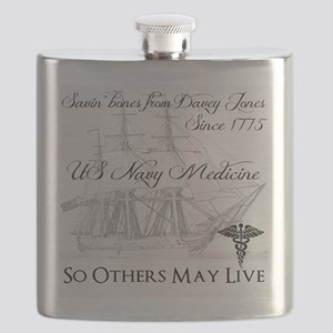 Saving Bones from Davey Jones II Flask