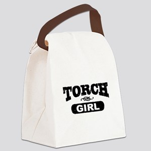 Torch Girl Canvas Lunch Bag