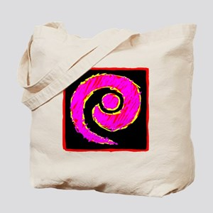 Abstract Color Curl Tote Bag