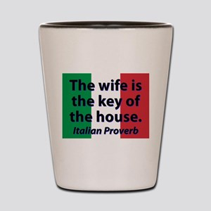 The Wife Is The Key Shot Glass