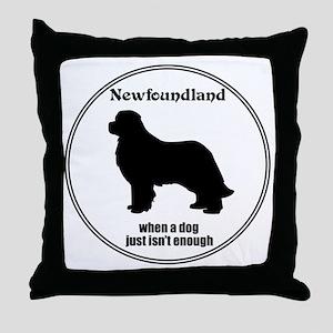 Newf Enough Throw Pillow