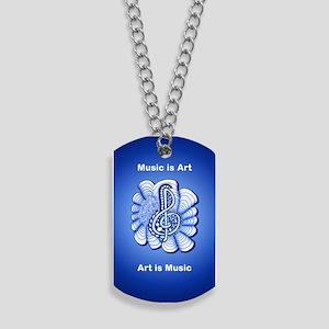 Customizable Blue Treble Clef Original Ar Dog Tags