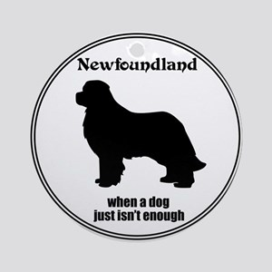 Newf Enough Ornament (Round)