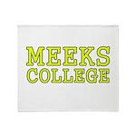 MeeksCollege Throw Blanket