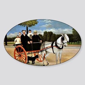 Henri Rousseau - Old Junior's Cart Sticker (Oval)