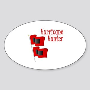 Hurricane Hunter Oval Sticker