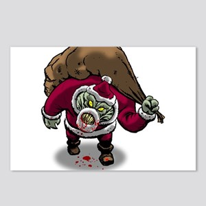 Horror Zombie Santa Claus Postcards (Package of 8)