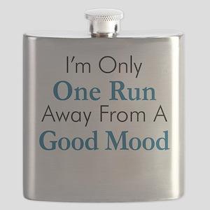 One Run Away Good Mood Flask