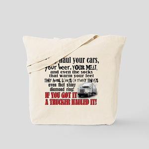 Trucker Hauled It Tote Bag