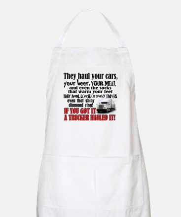 Trucker Hauled It Apron