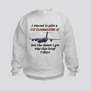 C-17 Globemaster Humour Kids Sweatshirt