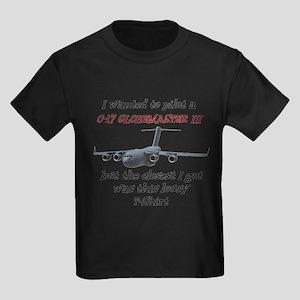 C-17 Globemaster Humour Kids Dark T-Shirt