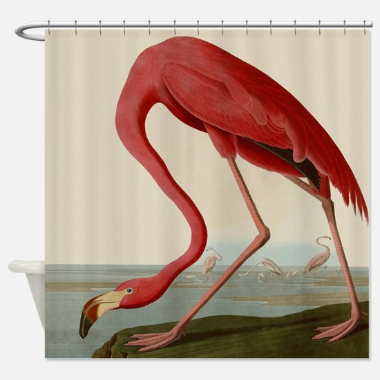 Exquisite Vintage Flamingo Shower Curtain