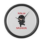 Ninja Broker Large Wall Clock