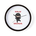Ninja Broker Wall Clock