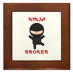 Ninja Broker Framed Tile