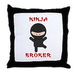 Ninja Broker Throw Pillow