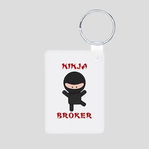 Ninja Broker Aluminum Photo Keychain
