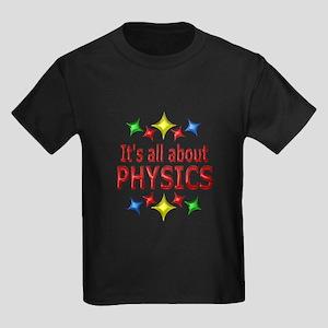 Shiny About Physics Kids Dark T-Shirt
